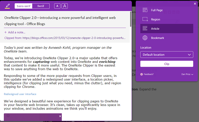 OneNote-webclipper